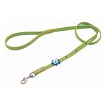 View Image 1 of Blue Petal Leather Dog Leash - Green