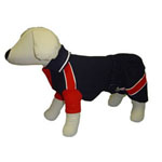 Blue and Red Dog Polo Outfit Set