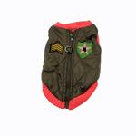 Bomber Dog Vest by Gooby - Pink Trim