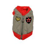 View Image 1 of Bomber Dog Vest by Gooby - Red Trim
