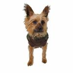 Bomber Dog Vest by Gooby - Brown Trim