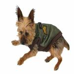 View Image 2 of Bomber Dog Vest by Gooby - Brown Trim