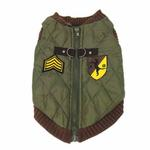 View Image 3 of Bomber Dog Vest by Gooby - Brown Trim