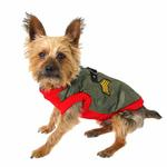 View Image 3 of Bomber Dog Vest by Gooby - Red Trim