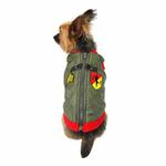 View Image 4 of Bomber Dog Vest by Gooby - Red Trim