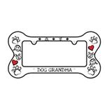 View Image 1 of Bone Shaped License Plate Frame - Dog Grandma