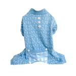 View Image 1 of Bones Dog Pajamas - Blue