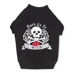 View Image 2 of Born to be Wild Dog T-Shirt - Black