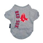 Boston Red Sox Dog T-Shirt - Gray