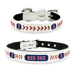 View Image 1 of Boston Red Sox Leather Dog Collar
