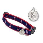 View Image 1 of Boston Red Sox Woven Ribbon Dog Collar