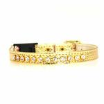 View Image 3 of Breakaway Crystal Cat Collar - Gold