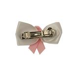 View Image 2 of Breast Cancer Bow Dog Barrette