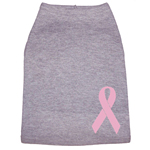 View Image 1 of Breast Cancer Dog Tank - Grey