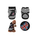 View Image 2 of Brit Dog Hoodie by Puppia - Black
