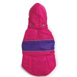 View Image 1 of Brite Stripe Dog Parka - Pink