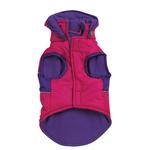 View Image 3 of Brite Stripe Dog Parka - Pink