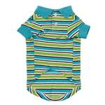 View Image 4 of Brite Stripe Dog Polo - Bluebird
