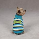View Image 1 of Brite Stripe Dog Sweater - Blue