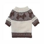 View Image 1 of Brown Doggies and Pattern Dog Sweater by Klippo