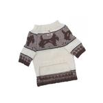 View Image 2 of Brown Doggies and Pattern Dog Sweater by Klippo