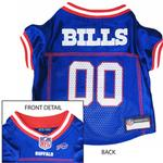 View Image 1 of Buffalo Bills Officially Licensed Dog Jersey - Red and White Trim