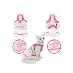 View Image 2 of Bully Cat Dress for Cats by Puppia - White