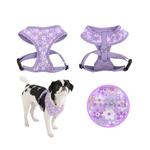 View Image 2 of Buttercup Dog Harness by Puppia - Violet