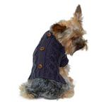 View Image 2 of Button Cable Sweater by Dogo - Gray