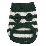 View Image 2 of Cabin Striped Turtleneck Dog Sweater - Green