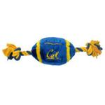 View Image 1 of California Golden Bears Plush Football Dog Toy