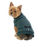 View Image 1 of Cali's Cable Knit Dog Sweater - Balsam