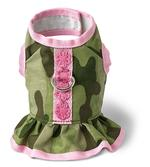 View Image 1 of Camo Dress Harness by Doggles - Green and Pink