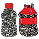 View Image 2 of Camo Signature Reversible Dog Parka - Red