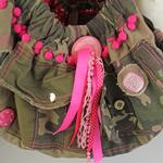 View Image 3 of Camouflage & Pink Sling Dog Carrier
