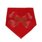 View Image 1 of Candy Cane Crossbones Rhinestone Dog Bandana - Red