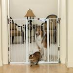 View Image 1 of Carlson Extra Tall Walk-Thru Dog Gate with Pet Door