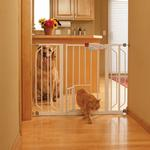 View Image 1 of Carlson Extra Wide Walk-Thru Dog Gate with Pet Door