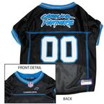 View Image 1 of Carolina Panthers Officially Licensed Dog Jersey - Blue Trim
