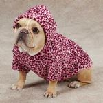 View Image 3 of Casual Canine Animal Print Dog Cuddler - Pink Leopard