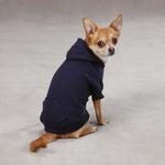 View Image 2 of Casual Canine Basic Dog Hoodie - Navy