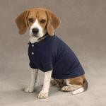 View Image 1 of Casual Canine Basic Polo Dog Shirt - Navy