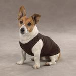 View Image 2 of Casual Canine Basic Ribbed Dog Tank Top - Chocolate