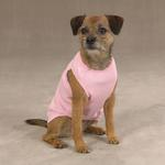 View Image 1 of Casual Canine Basic Ribbed Dog Tank Top - Orchard Pink