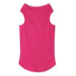 Casual Canine Basic Ribbed Dog Tank Top - Raspberry Sorbet