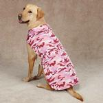 View Image 2 of Casual Canine Camo Barn Dog Coat - Pink