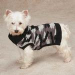 View Image 1 of Casual Canine Camo Dog Sweater - Black