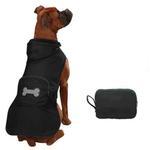 View Image 2 of Fleece-Lined Stowaway Dog Rain Jacket - Black