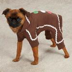 View Image 2 of Gingerbread Dog Pajamas