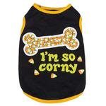 View Image 2 of Casual Canine I'm So Corny Dog T-Shirt - Black